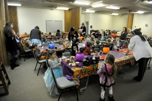 The children were participating in a Halloween party during their weekly homeschool coop meeting which brings children together from different families who are home schooled on Minot Air Force Base. U.S. Air Force photo by Staff Sgt. Chad Trujillo