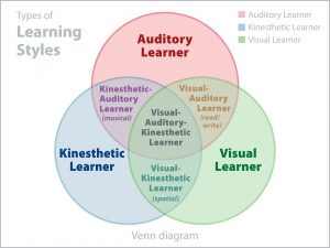 Learning styles that fit in the homeschool curriculum.